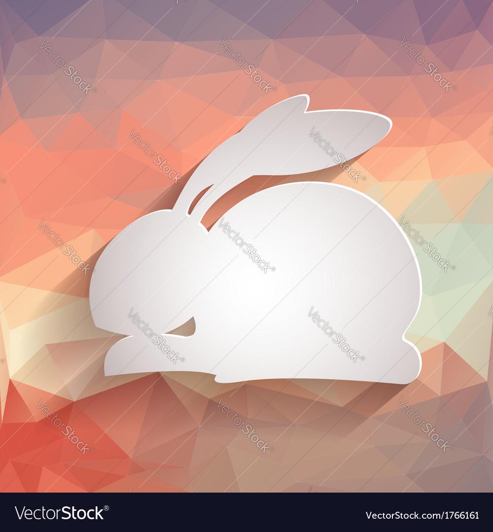 Happy easter rabbit bunny vector | Price: 1 Credit (USD $1)