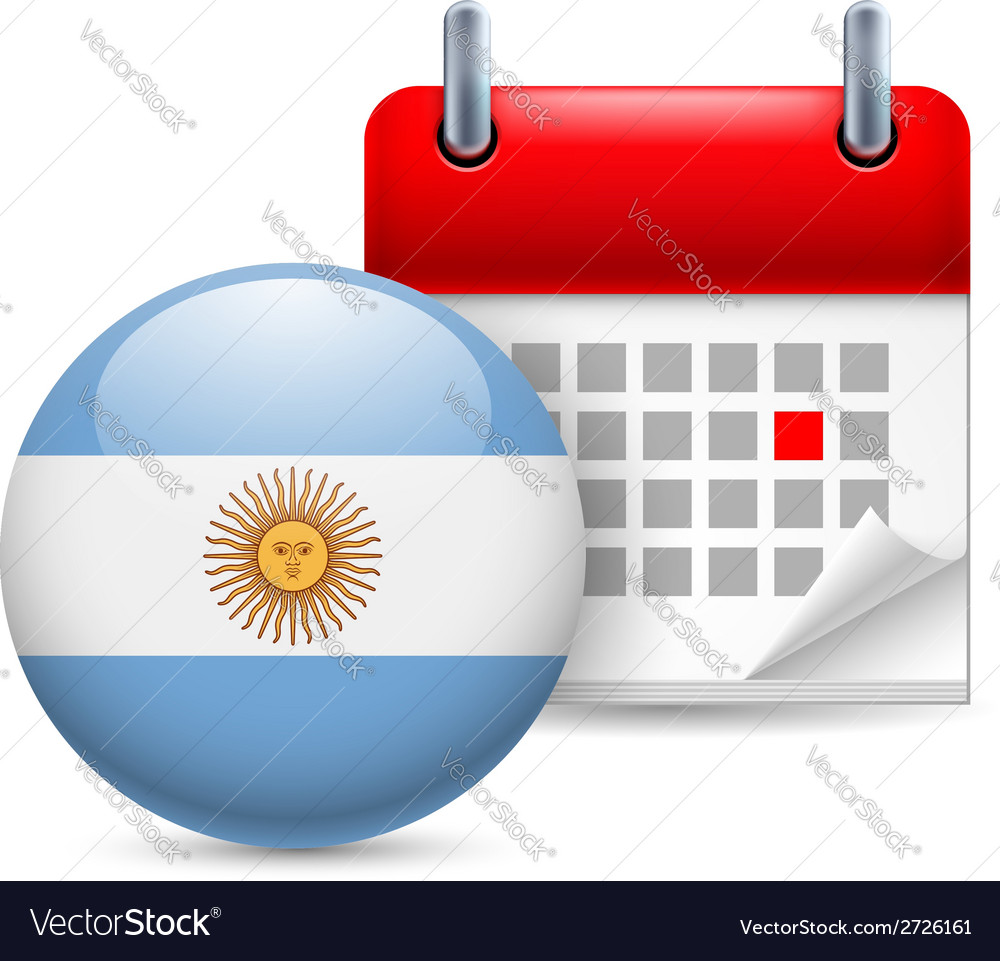 Icon of national day in argentina vector | Price: 1 Credit (USD $1)