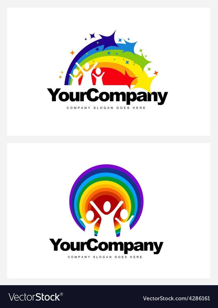 Kindergarten logo design vector