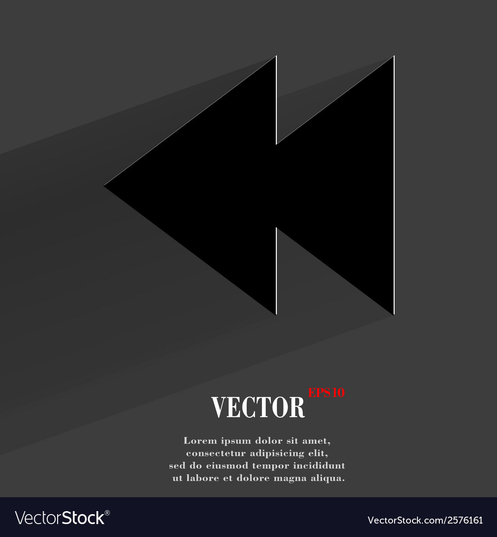 Multimedia control flat modern web button with vector | Price: 1 Credit (USD $1)