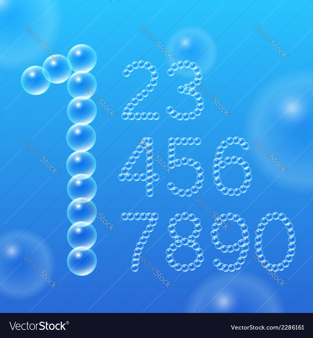 Numbers 0-9 of air bubbles vector | Price: 1 Credit (USD $1)