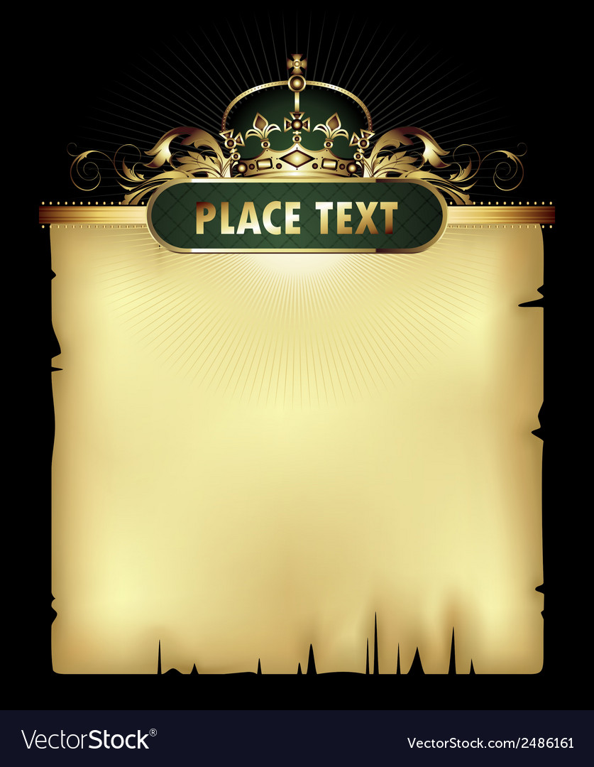 Paper background with crown vector | Price: 1 Credit (USD $1)
