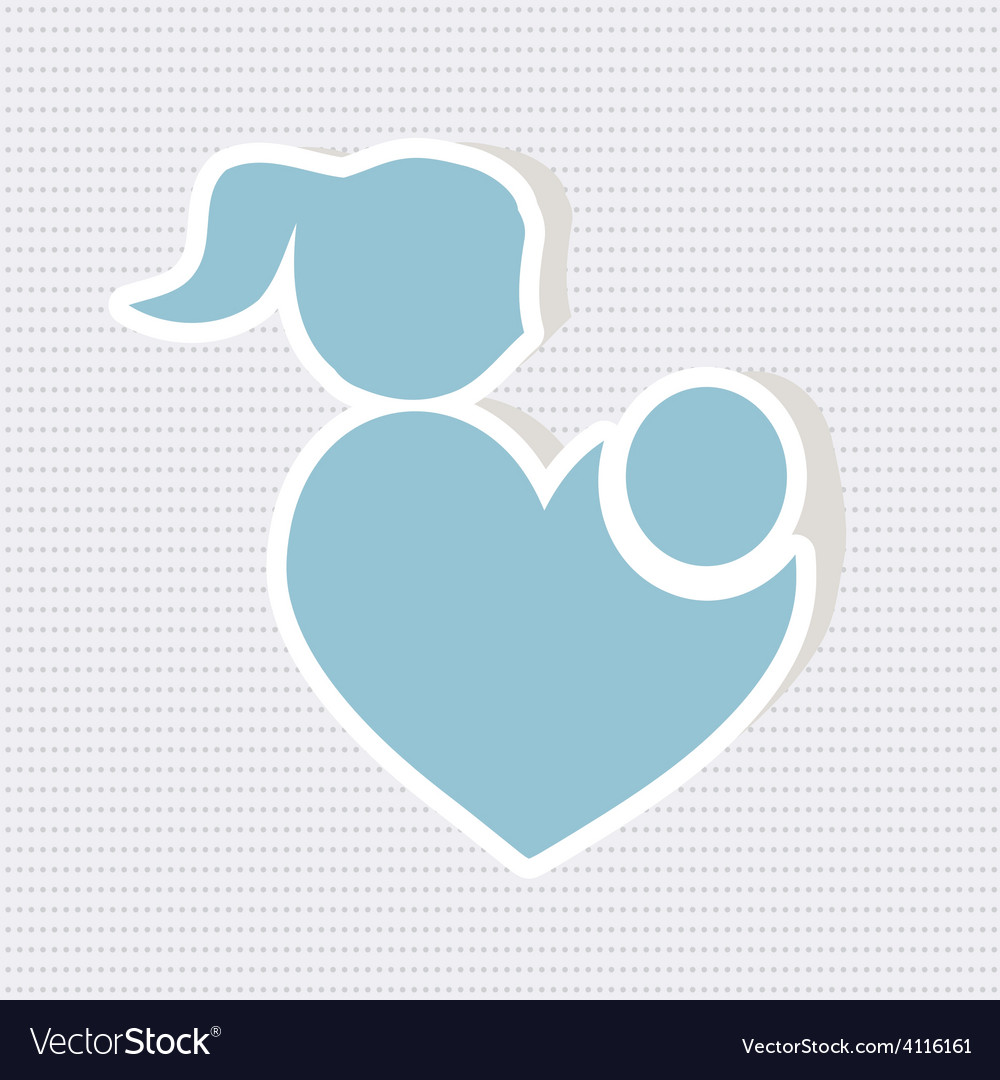 Parent with baby icon vector | Price: 1 Credit (USD $1)