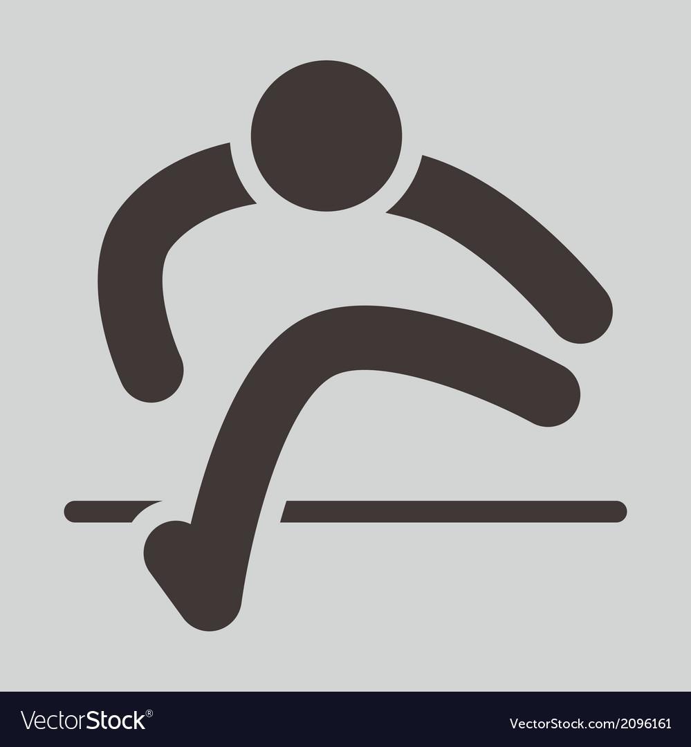 Running hurdles icon vector | Price: 1 Credit (USD $1)