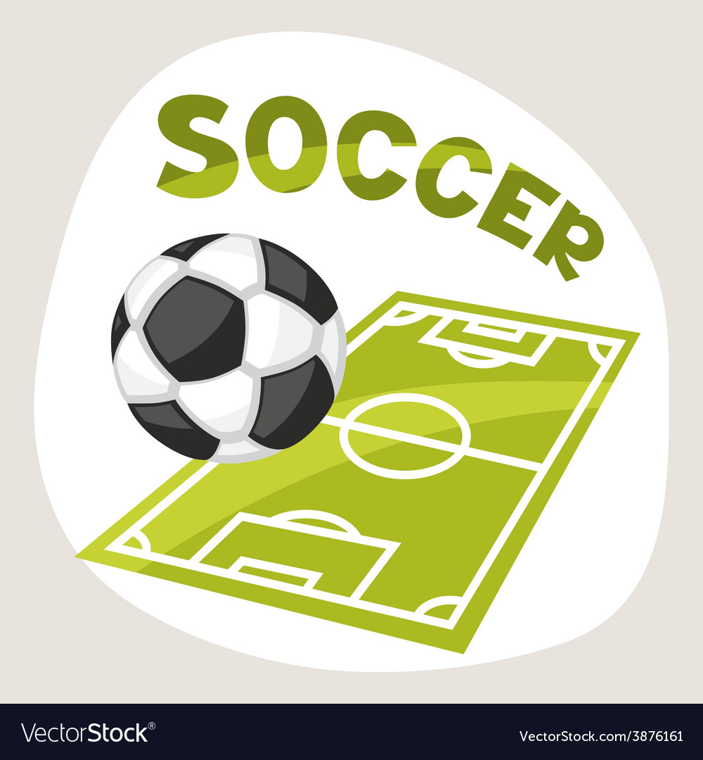 Sports background with soccer symbols vector | Price: 1 Credit (USD $1)