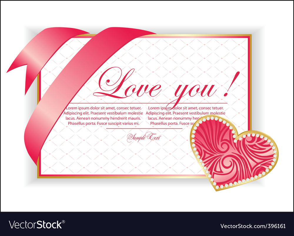 Valentine illustration with hearts vector | Price: 1 Credit (USD $1)