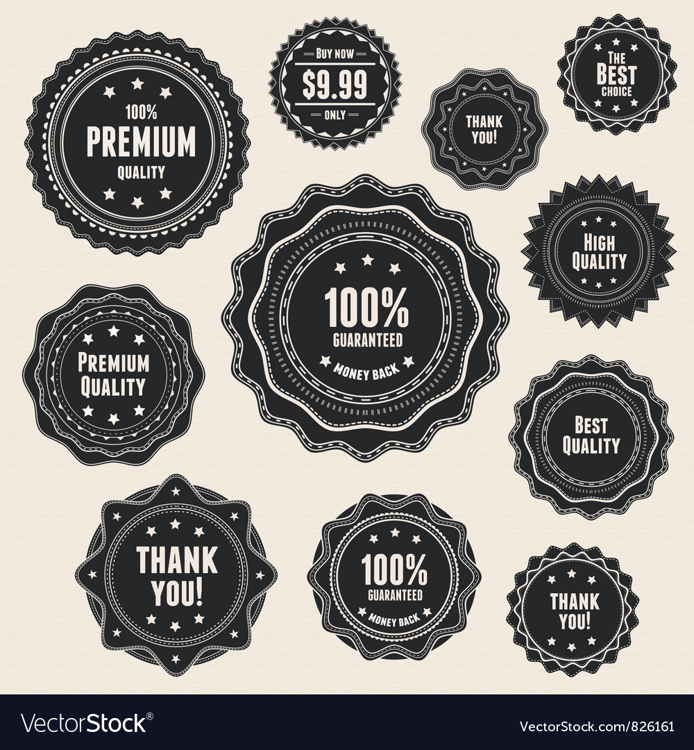 Vintage premium quality labels vector | Price: 1 Credit (USD $1)