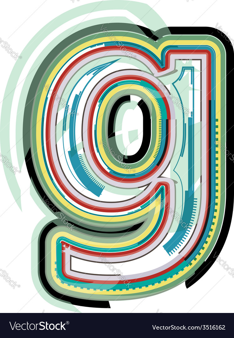 Abstract colorful letter g vector | Price: 1 Credit (USD $1)