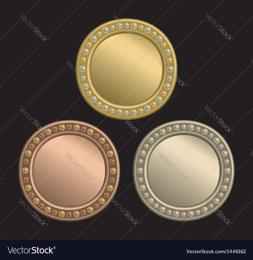 Circle plaque vector | Price: 1 Credit (USD $1)