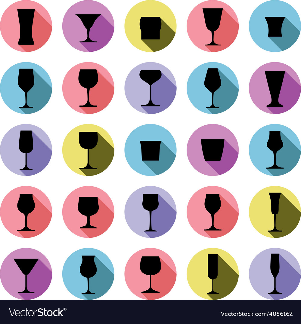 Classic goblets collection martini wineglass vector | Price: 1 Credit (USD $1)
