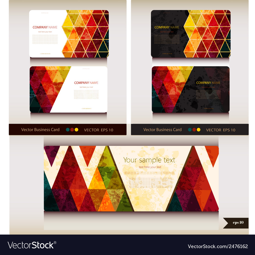 Corporate identity templates geometric pattern vector | Price: 1 Credit (USD $1)