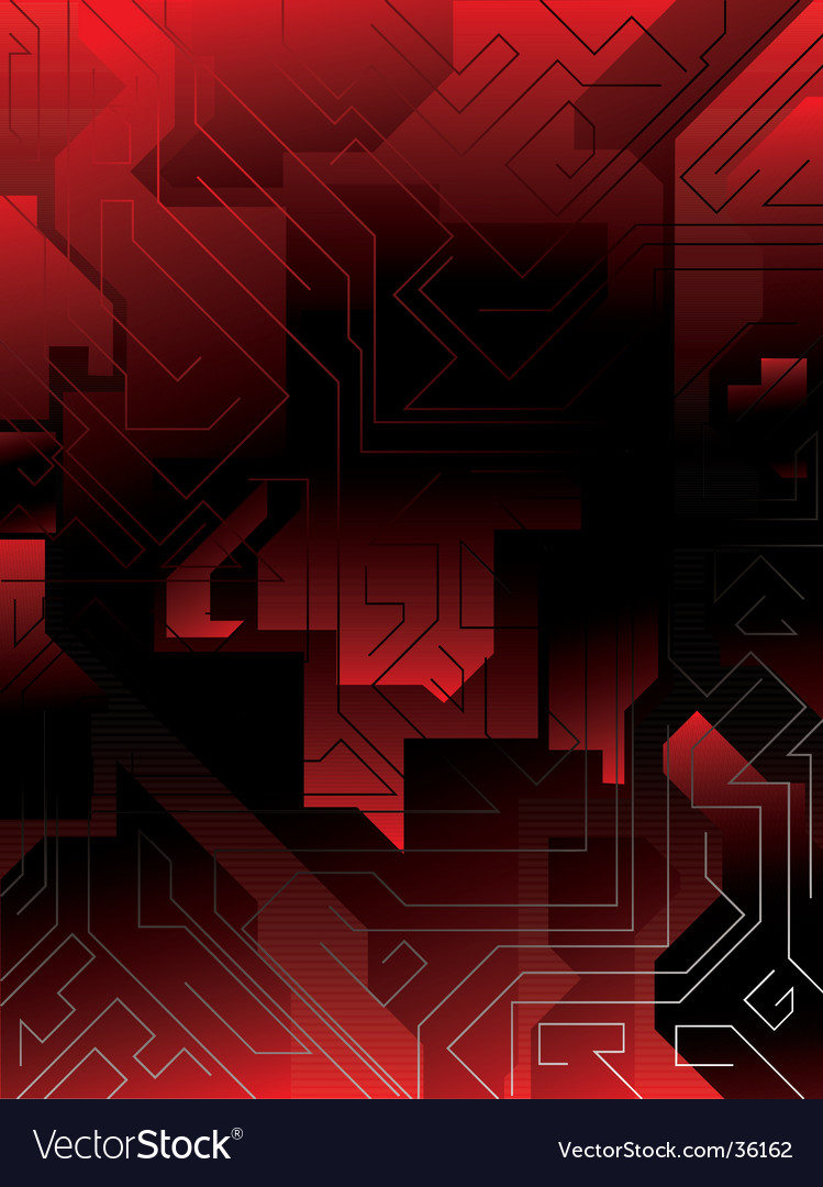 Electric red maze vector | Price: 1 Credit (USD $1)