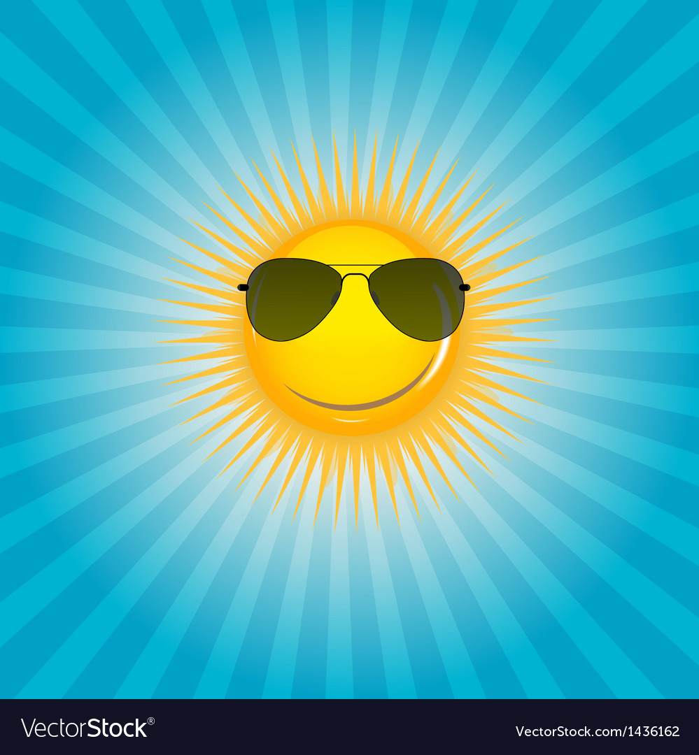 Happy sun background vector | Price: 1 Credit (USD $1)