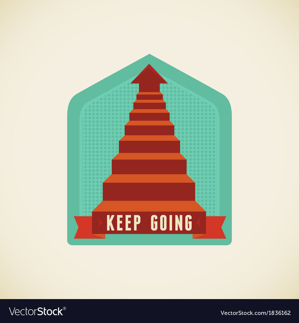 Keep going vector | Price: 1 Credit (USD $1)