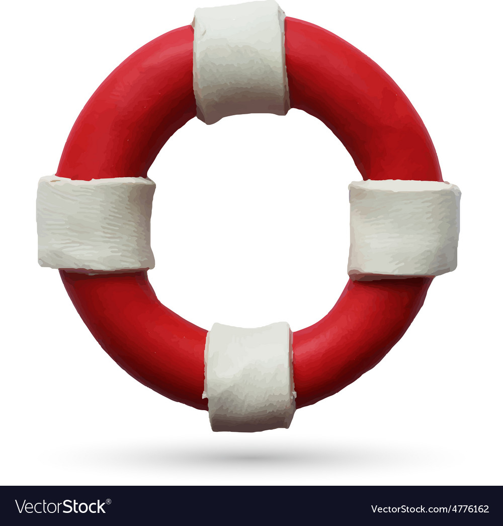 Lifebuoy on white background vector | Price: 1 Credit (USD $1)