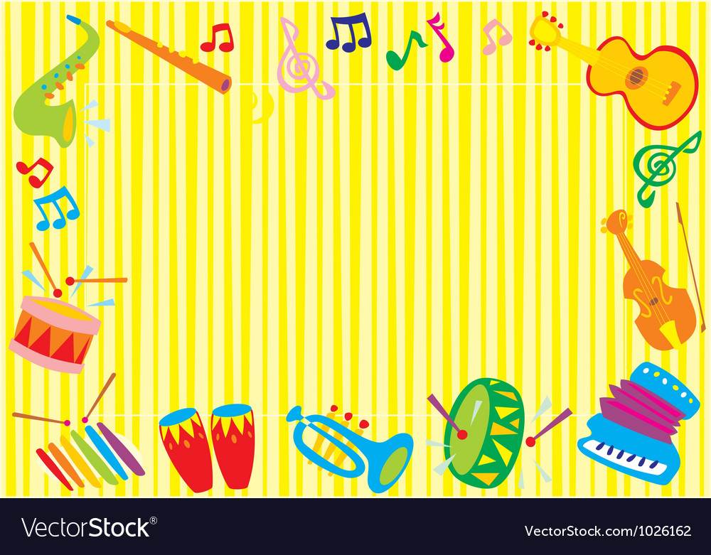 Musical border vector | Price: 1 Credit (USD $1)