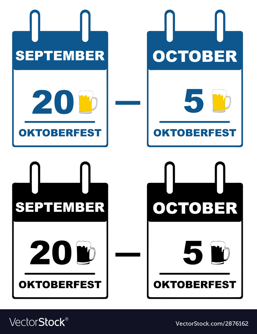 Oktoberfest calendar vector | Price: 1 Credit (USD $1)