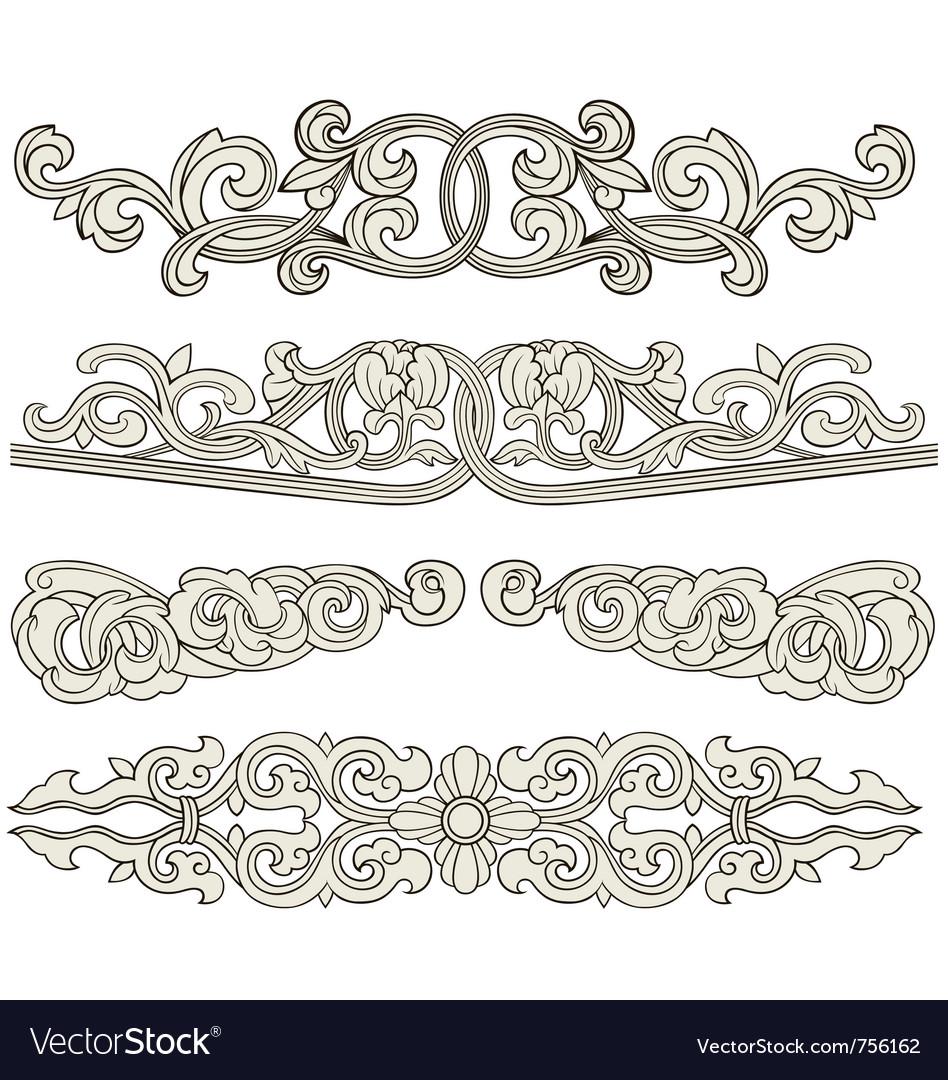 Scroll ornament vector | Price: 1 Credit (USD $1)