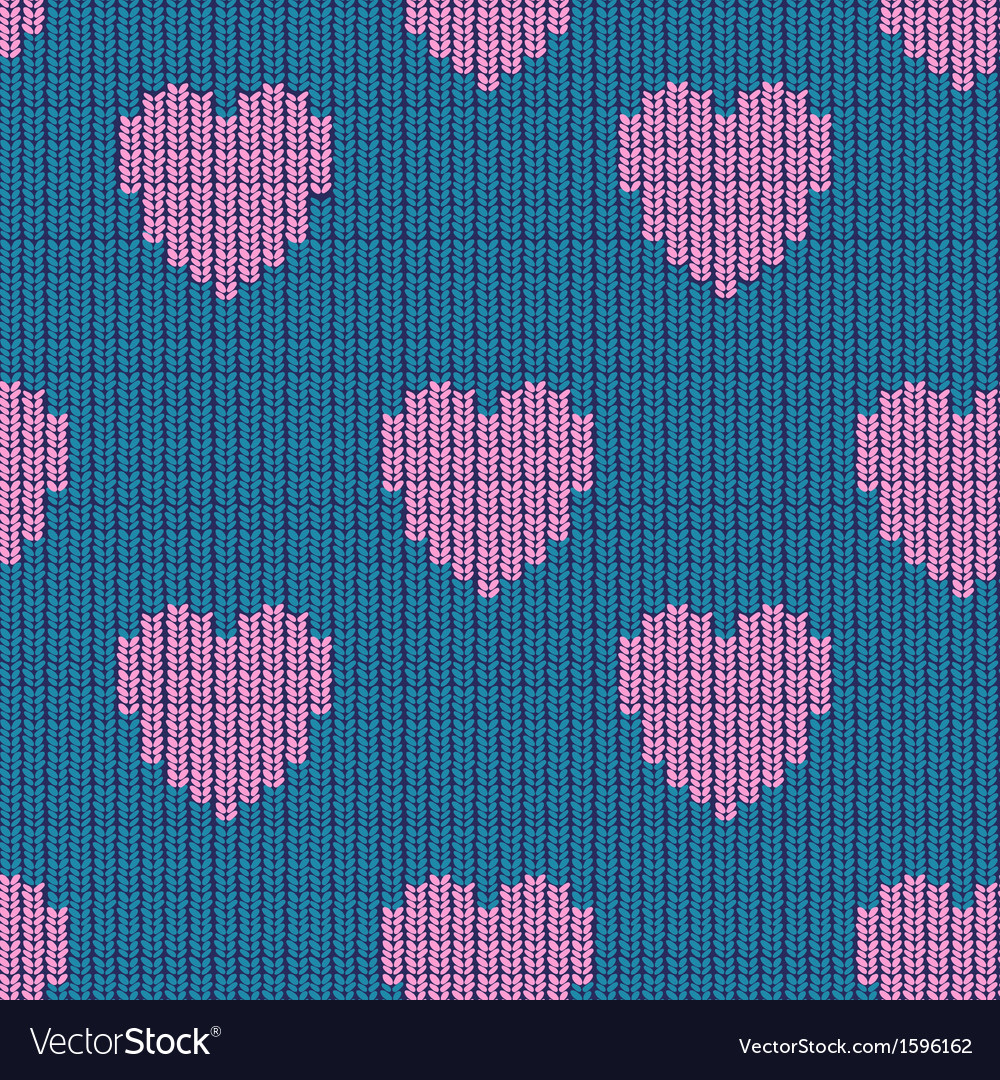 Seamless knitted background vector | Price: 1 Credit (USD $1)