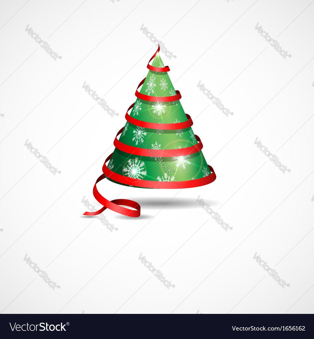 Stylized ribbon christmas tree vector | Price: 1 Credit (USD $1)