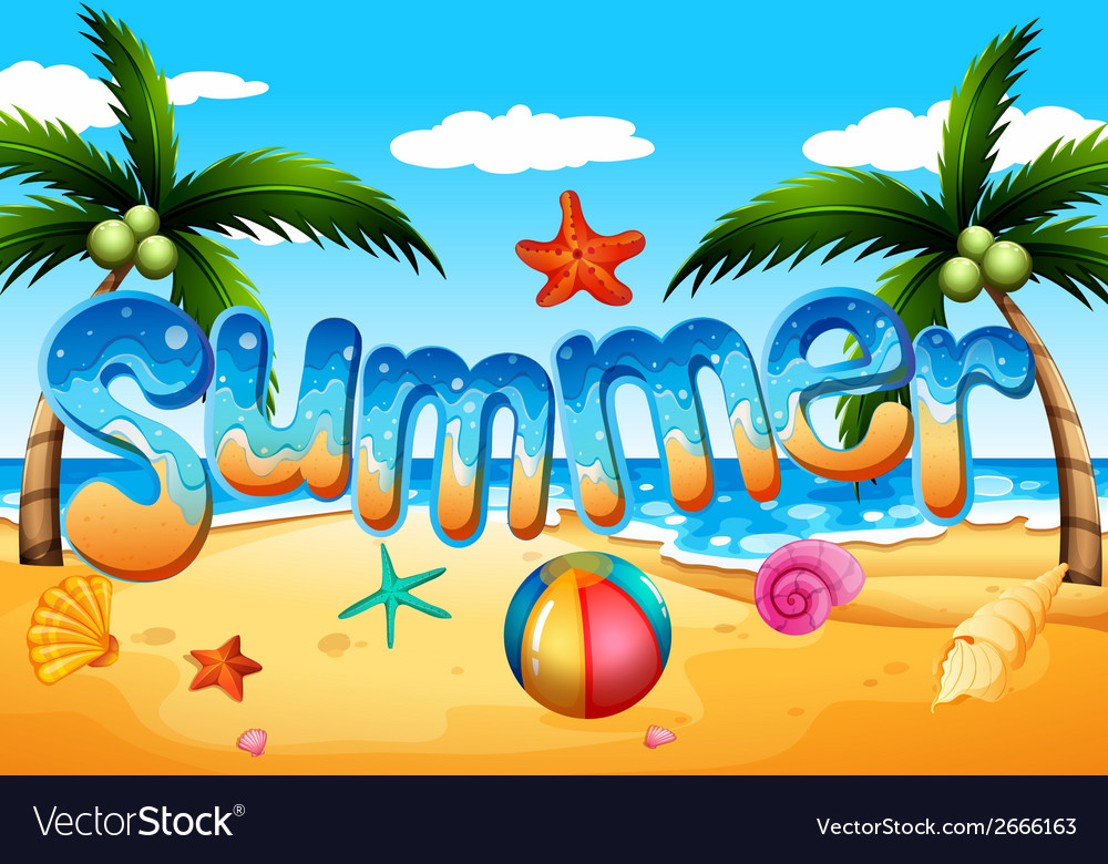 A summer at the beach vector | Price: 1 Credit (USD $1)
