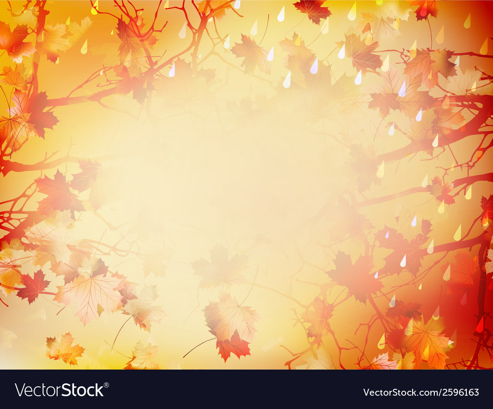Autumnal background with maple leaves eps 10 vector | Price: 1 Credit (USD $1)