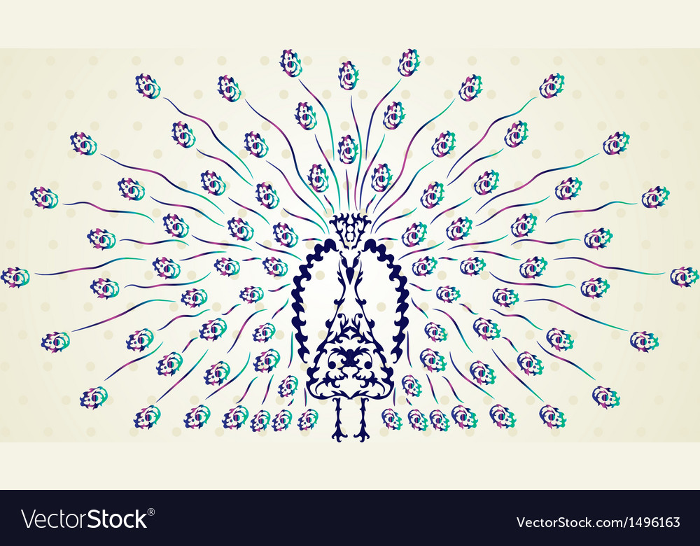 Decorative peacock vector | Price: 1 Credit (USD $1)