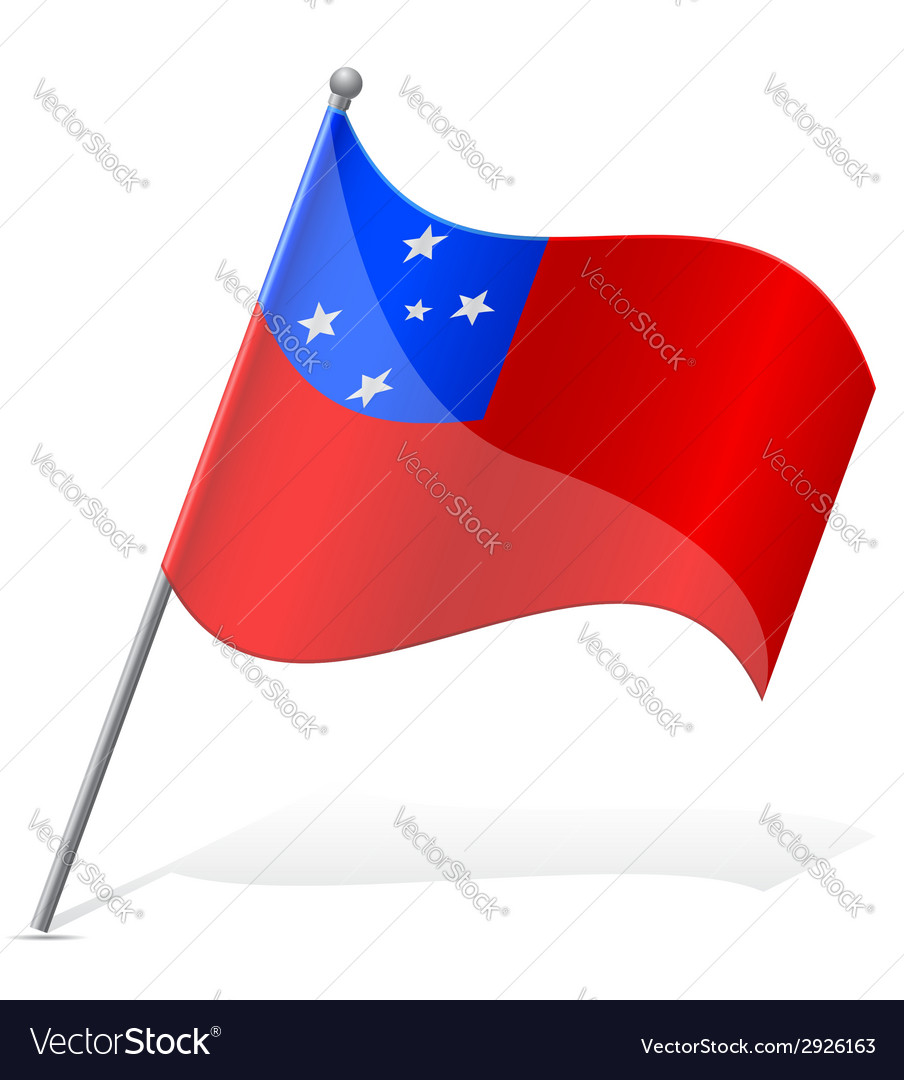 Flag of samoa vector | Price: 1 Credit (USD $1)