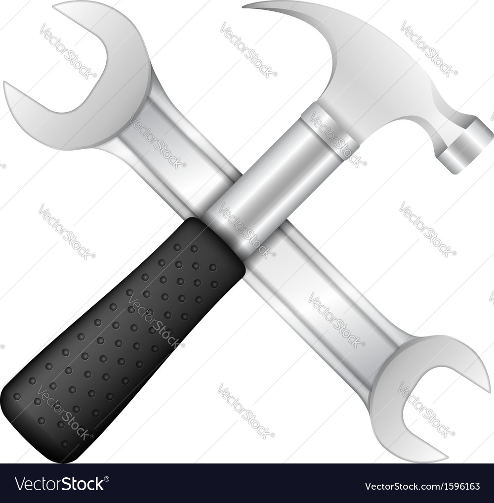 Hammer and wrench vector | Price: 1 Credit (USD $1)