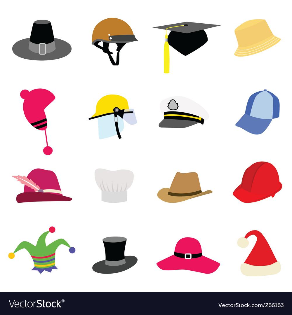 Hat set vector | Price: 1 Credit (USD $1)