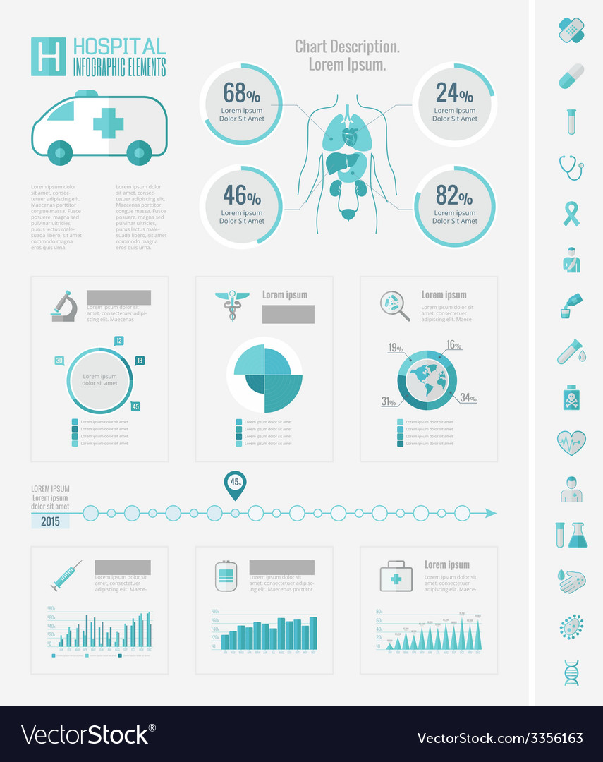 Healthcare infographic elements vector | Price: 1 Credit (USD $1)