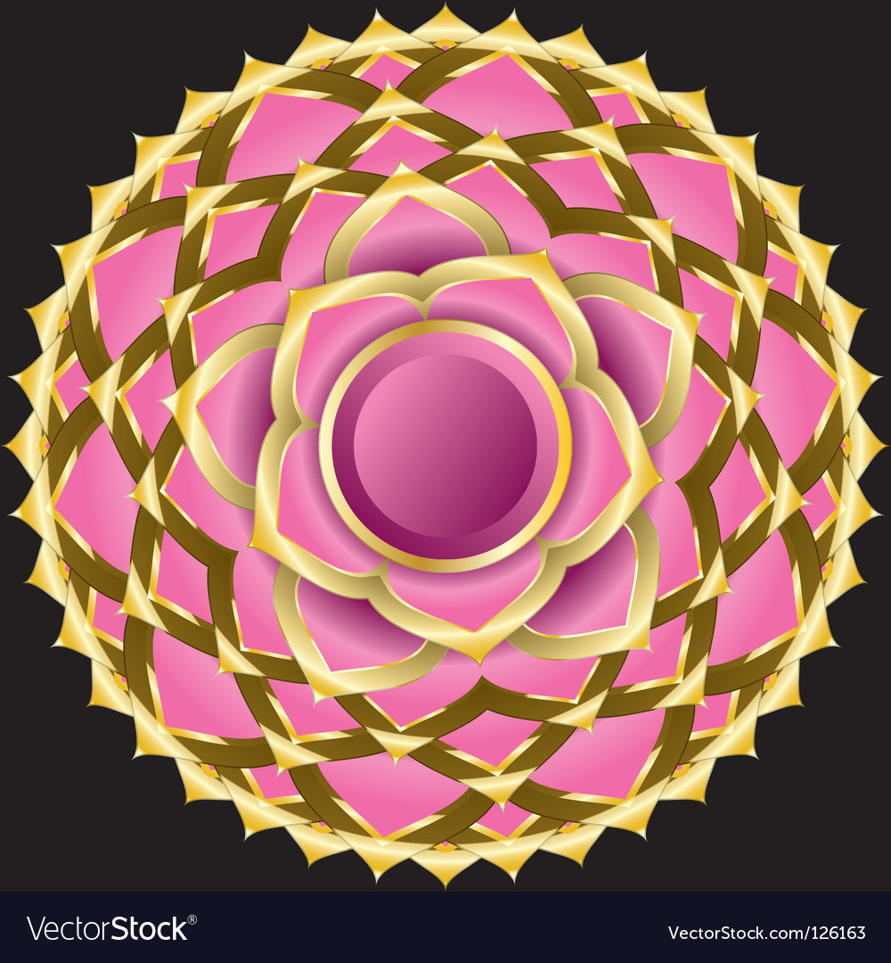 Hindu chakra sahasrara medallion vector | Price: 3 Credit (USD $3)