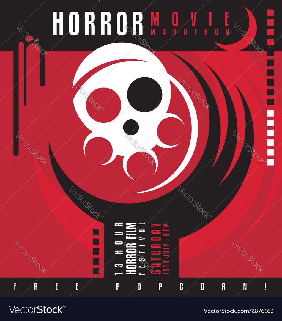Horror film festival flat design concept vector | Price: 1 Credit (USD $1)