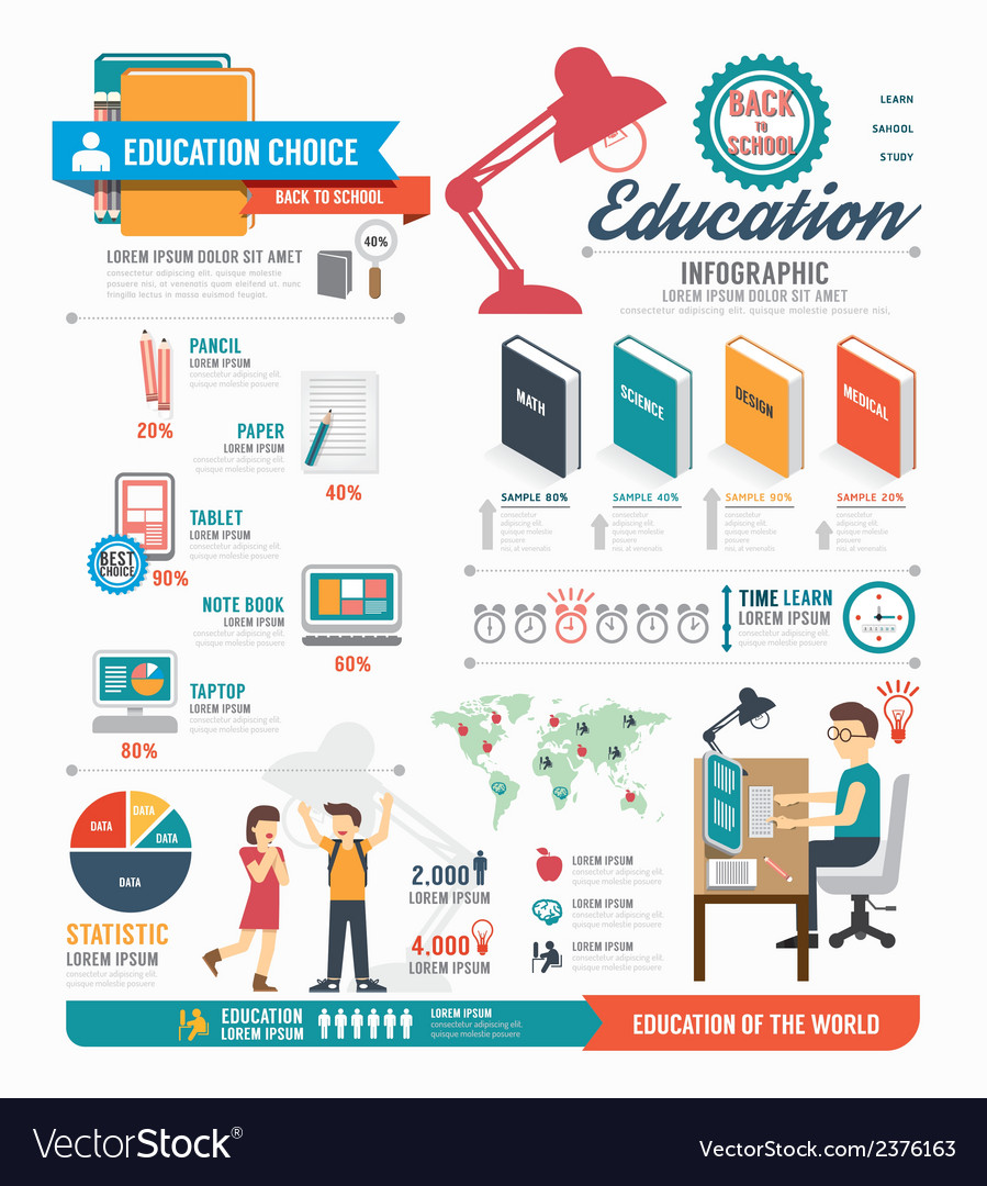 Infographic education template design concept vector | Price: 1 Credit (USD $1)