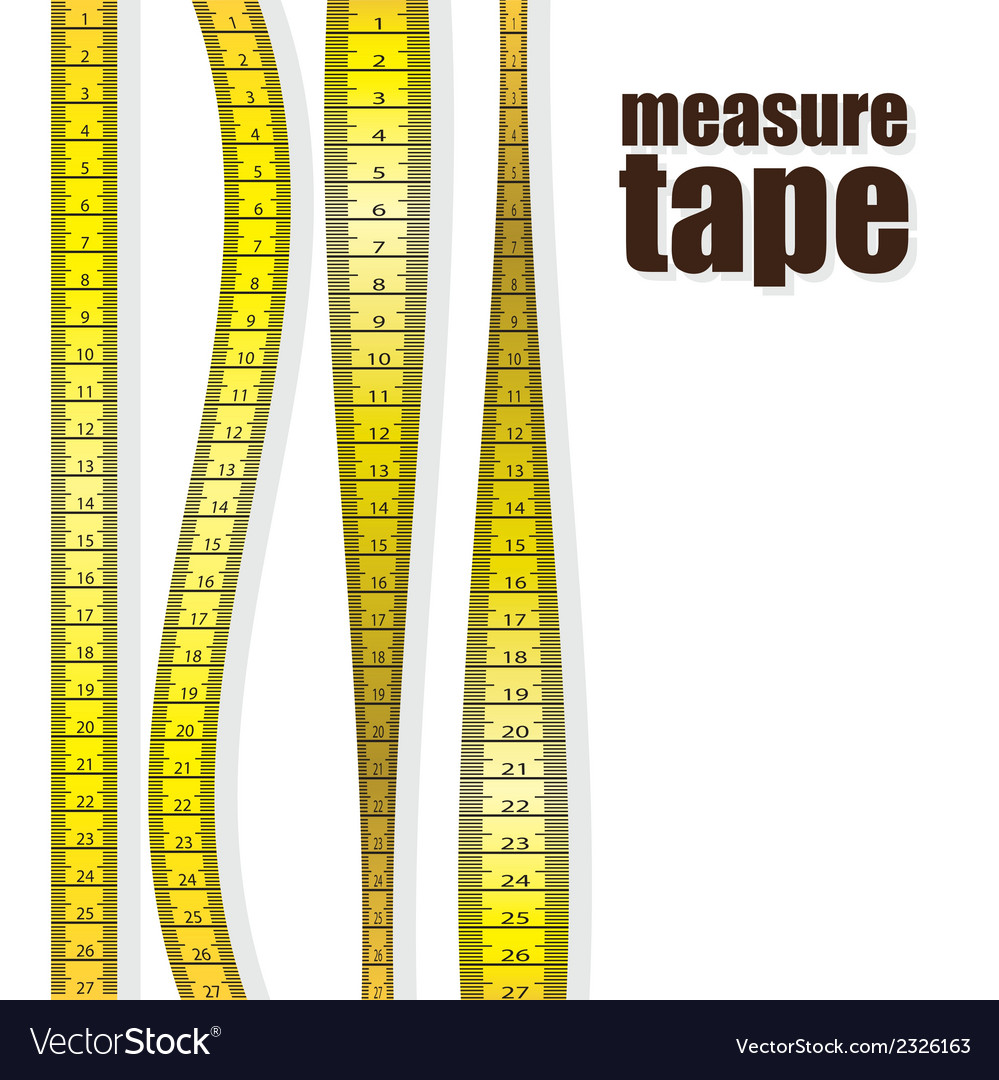 Measure tapes in different positions isolated on w vector | Price: 1 Credit (USD $1)