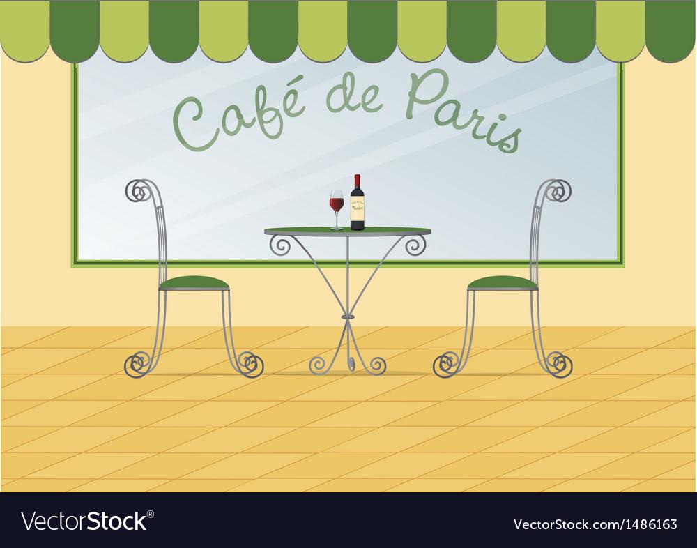 Paris cafe vector | Price: 1 Credit (USD $1)