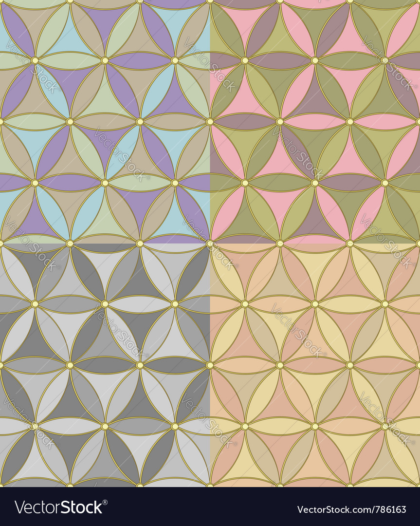 Pattern of hexagons vector | Price: 1 Credit (USD $1)