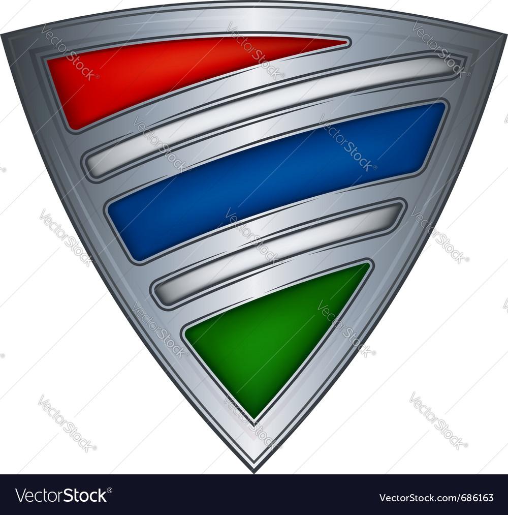 Steel shield gambia vector | Price: 1 Credit (USD $1)