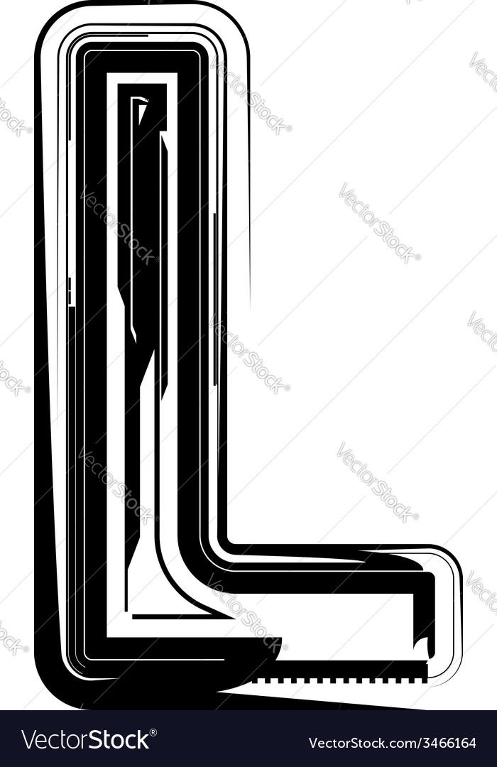 Abstract letter l vector | Price: 1 Credit (USD $1)