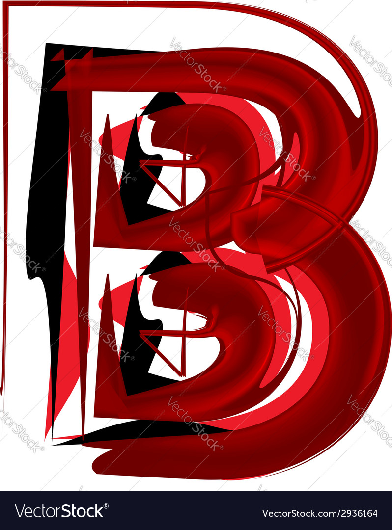Artistic font letter b vector | Price: 1 Credit (USD $1)