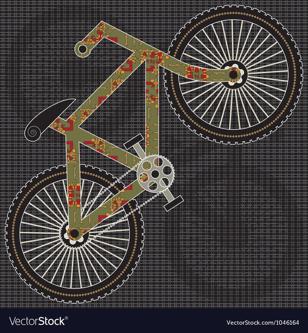 Bicycle print design vector | Price: 1 Credit (USD $1)
