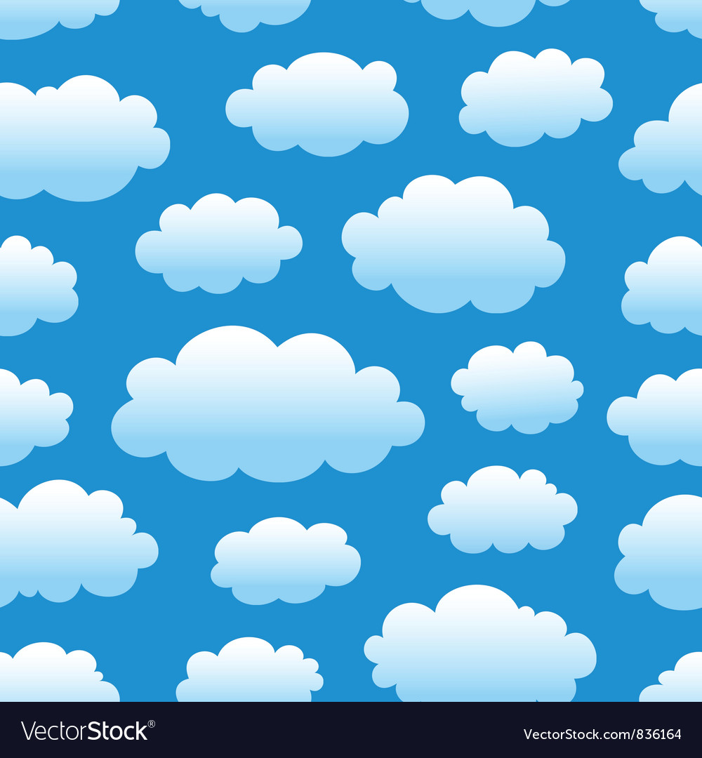 Cloudy sky pattern vector | Price: 1 Credit (USD $1)