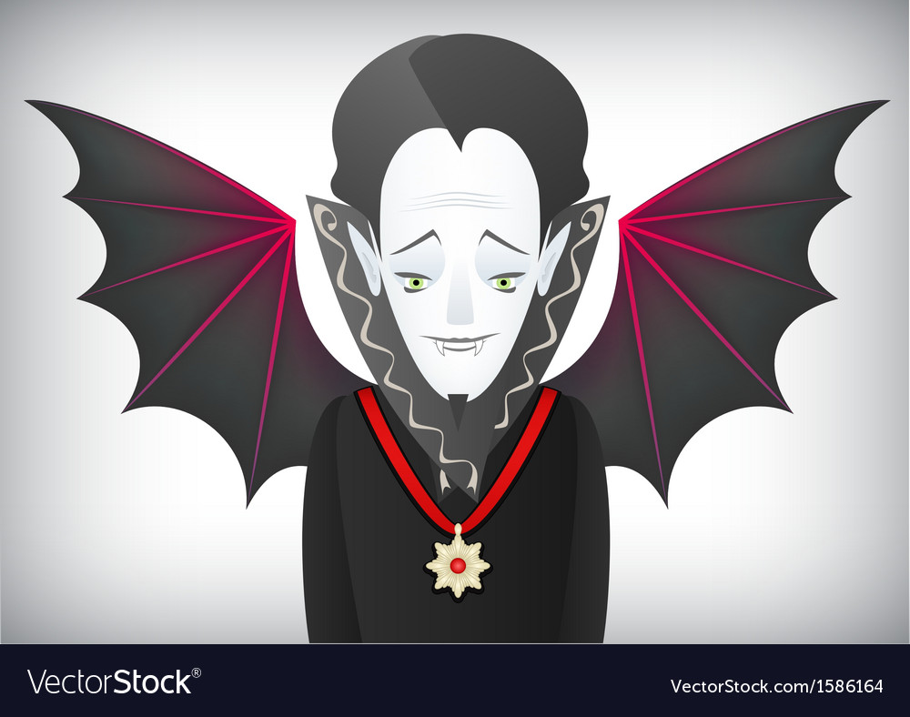 Count dracula is a charming halloween vampire vector | Price: 1 Credit (USD $1)