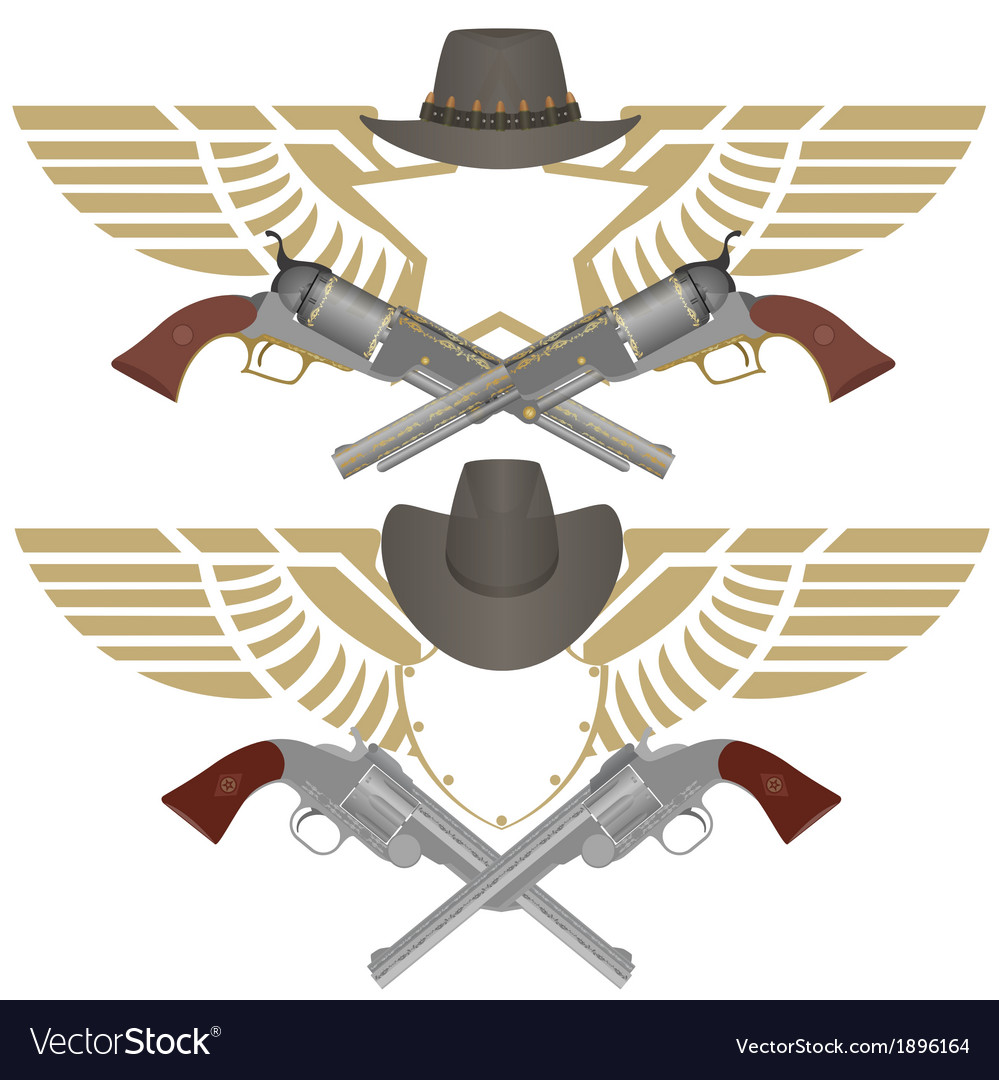 Cowboy pistols vector | Price: 1 Credit (USD $1)