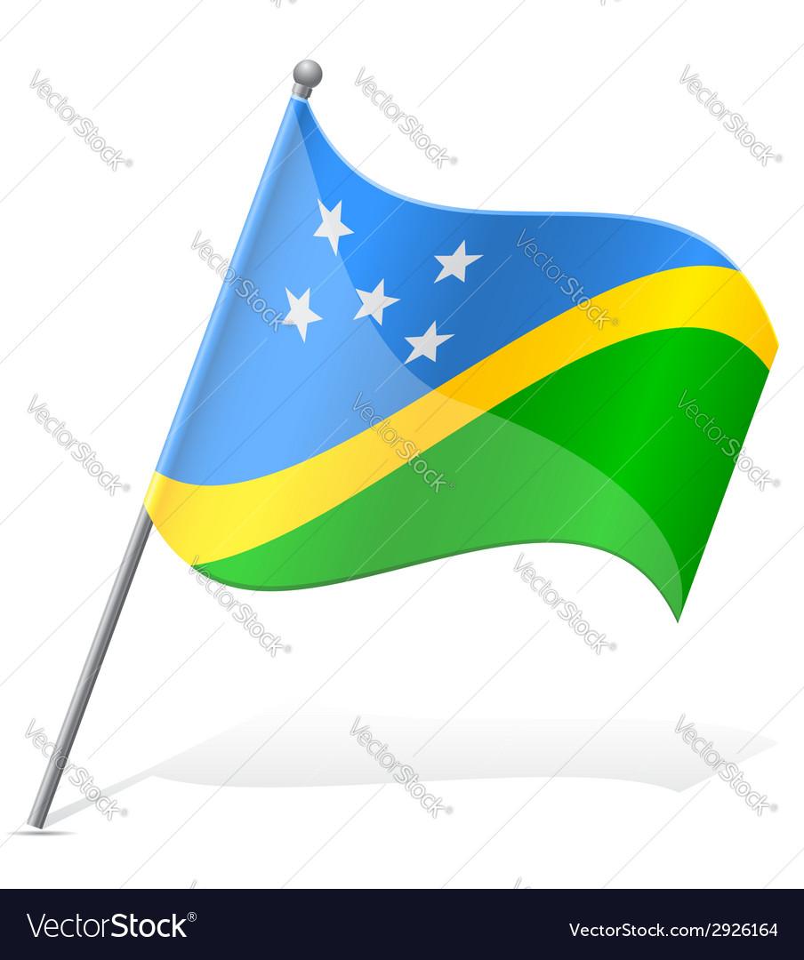 Flag of solomon islands vector | Price: 1 Credit (USD $1)