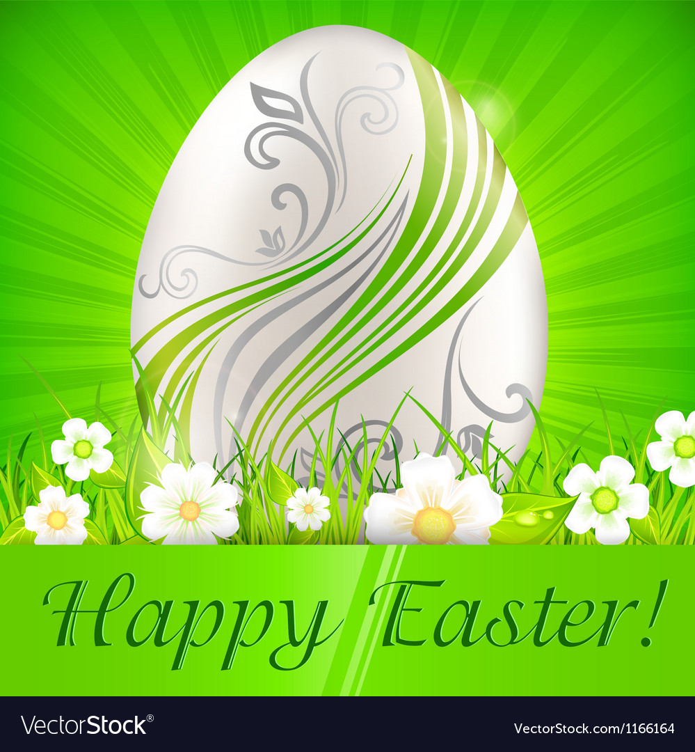 Happy easter green background 10 v vector | Price: 1 Credit (USD $1)