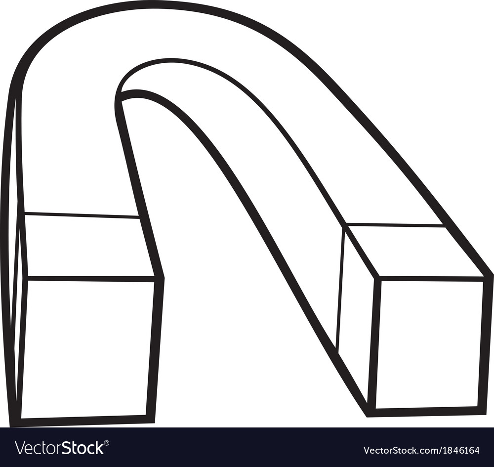 Horseshoe magnet vector | Price: 1 Credit (USD $1)