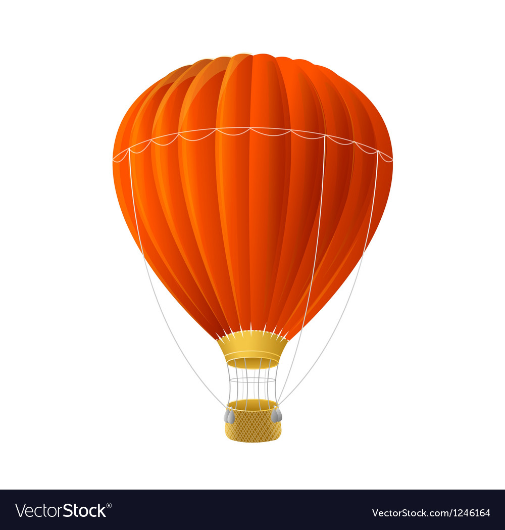 Red air ballon isolated on white vector | Price: 3 Credit (USD $3)
