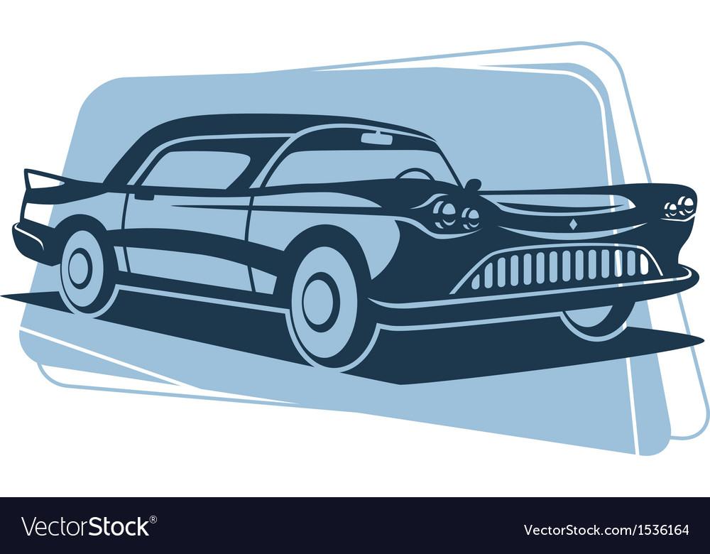 Retro car silhouette vector | Price: 3 Credit (USD $3)