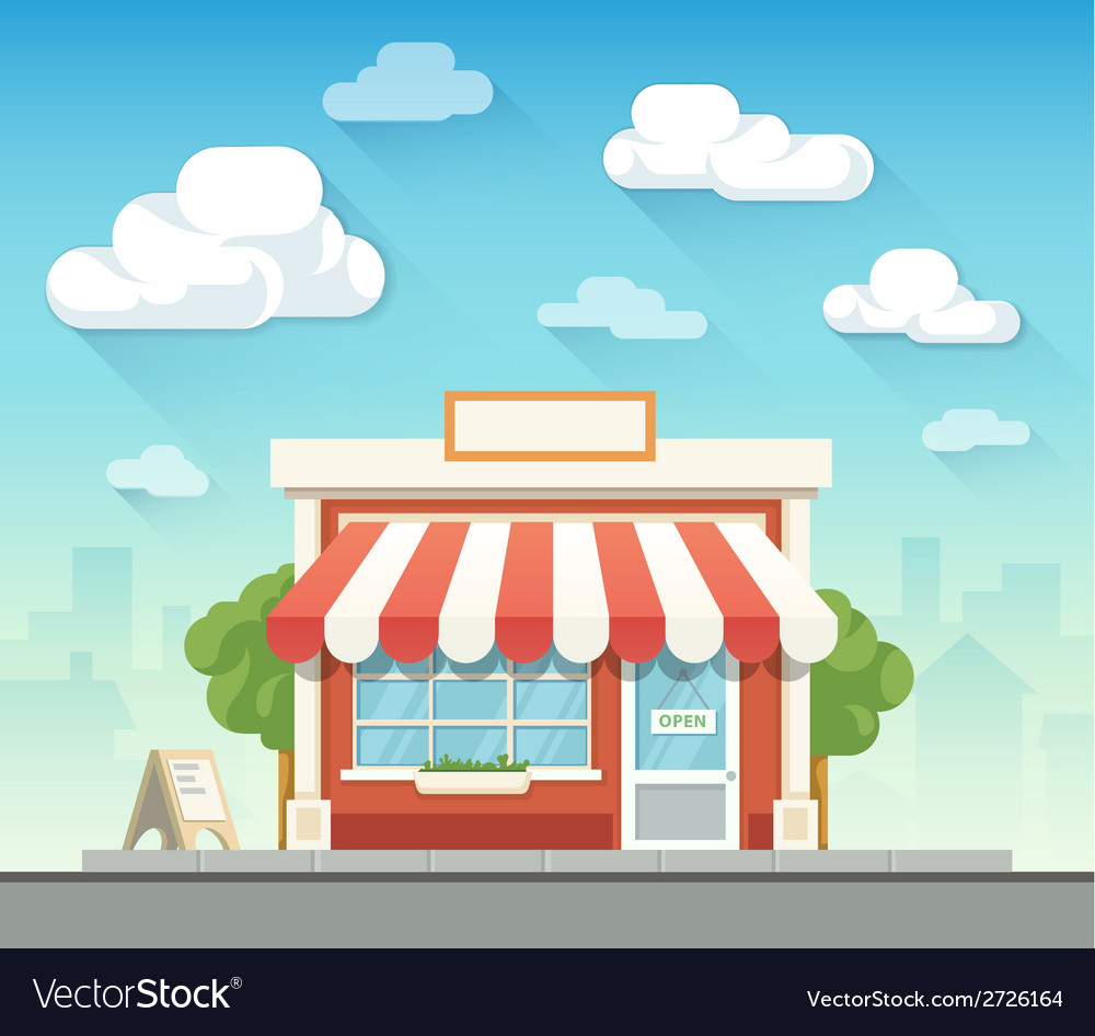 Store flat vector | Price: 3 Credit (USD $3)
